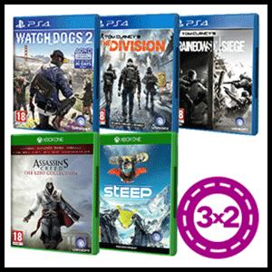3x2 en juegos Ubisoft