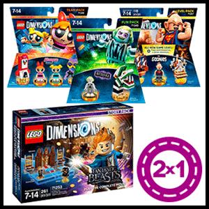 2x1 en packs de figuras LEGO Dimensions