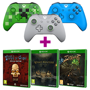 Controller Inalámbrico Microsoft + juego a elegir de regalo