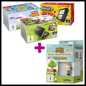 Nintendo 2DS a elegir + juego Animal Crossing Happy Home Designer + amiibo Canela