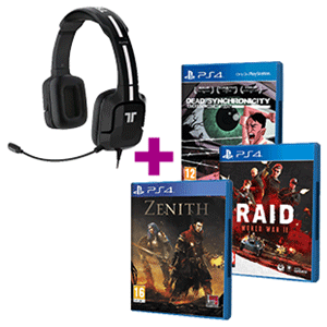 Auriculares Tritton Kunai Negros + juego PS4 a elegir de regalo