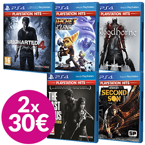 2x30€ en juegos PlayStation Hits