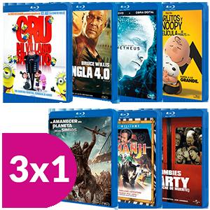 3x1 en películas Blu-Ray