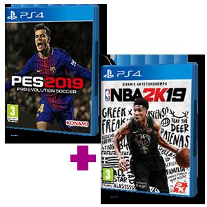 Pro Evolution Soccer 2019 + NBA 2K19
