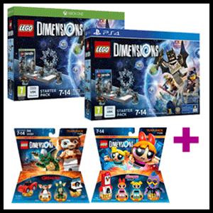 Lego Dimensions Starter Pack + Team Pack a elegir