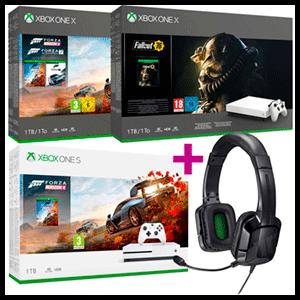 Xbox One S o X a elegir + Tritton Kama Negros
