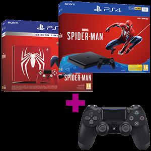 Playstation 4 1TB + Spiderman por 50€ menos + Dualshock 4 V2 negro
