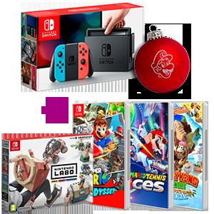 Nintendo Switch (Gris o Rojo-Azul neón) + juego a elegir