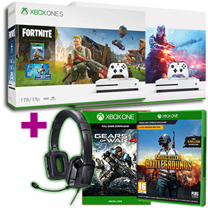 Xbox One S 1TB + PlayerUnknown's Battlegrounds + Gears of War 4 + auriculares Tritton Kama 3.5mm