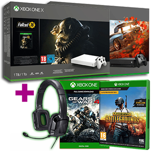 Xbox One X 1TB + PlayerUnknown's Battlegrounds + Gears of War 4 + auriculares Tritton Kama 3.5mm