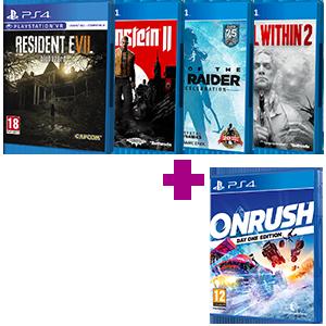Juego PlayStation 4 a elegir + Onrush Day One Edition