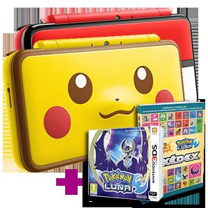 New Nintendo 2DS XL a elegir + Pokémon Luna + Guia oficial Pokémon Sol y Luna