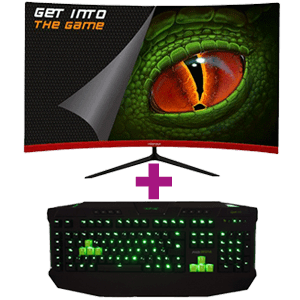 "Monitor Keep Out XGM27C+ 27"" 165Hz Curvo + Teclado mecánico Keep Out F110 de regalo"
