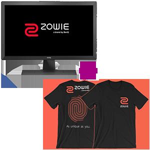 Monitor BenQ ZOWIE a elegir + Camiseta ZOWIE Team de regalo