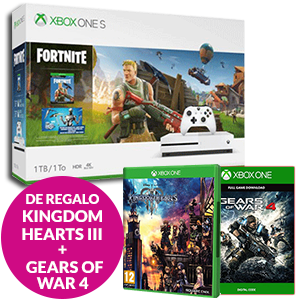 Xbox One S (500GB o 1 TB) + Kingdom Hearts III + Gears of War 4 de regalo