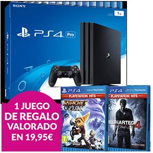 Playstation 4 1TB Pro + juego Playstation Hits de regalo