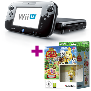 Wii U 32B negra + Animal crossing amiibo Festival de regalo