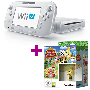 Wii U 8GB blanca + Animal crossing amiibo Festival de regalo