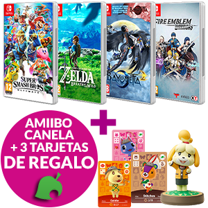 Juego Switch + amiibo Canela de regalo