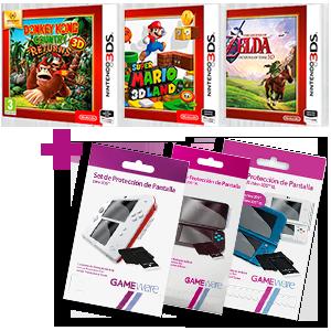 3DS Selects + protector pantalla de regalo