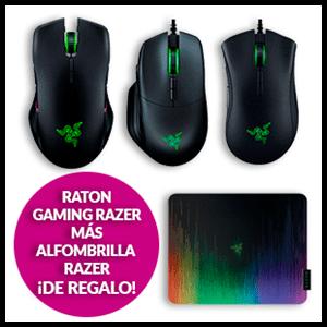 Ratón Razer a elegir + alfombrilla de regalo