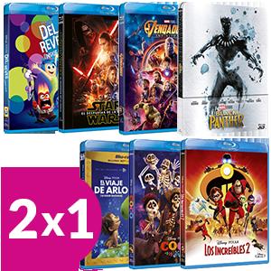 2x1 en películas Blu-Ray Disney