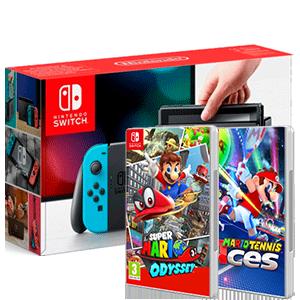 Nintendo Switch + New Super Mario Bros U. Deluxe