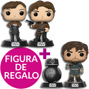Figura POP Han Solo + Figura POP Star Wars de regalo