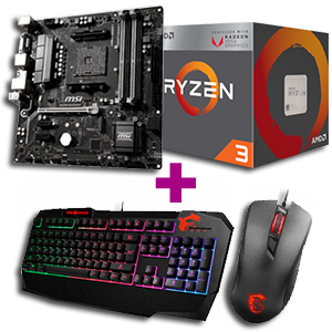 Procesador AMD Ryzen + Placa base MSI + periféricos MSI de regalo