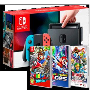 Nintendo Switch + 2 juegos a elegir