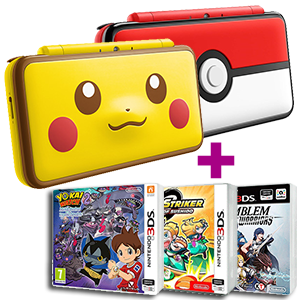 New Nintendo 2DS XL Pokémon + 2 juegos a elegir