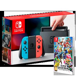 Nintendo Switch + Super Smash Bros Ultimate