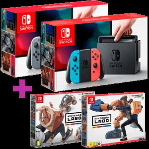 Nintendo Switch + Nintendo Labo Kit Robot + Kit Vehículos