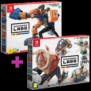 Nintendo Labo Kit Robot + Nintendo Labo Kit Vehículos