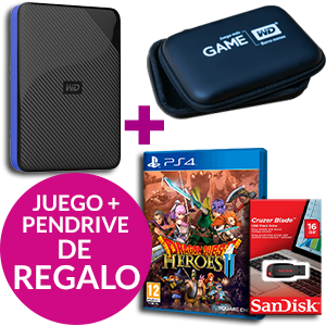 Western Digital Gaming Drive PS4 2TB + Dragon Quest Heroes II + Sandisk Cruzer Blade 16GB
