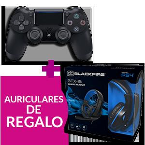 Controller Dualshock 4 V2 Negro + Auriculares Ardistel Blackfire BFX-15