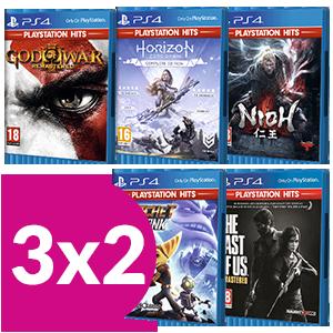 3x2 en juegos Playstation Hits