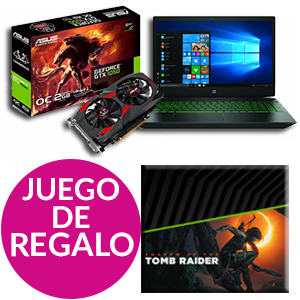 Pack Nvidia GFORCE + juego digital Shadow of the Tomb Raider de regalo
