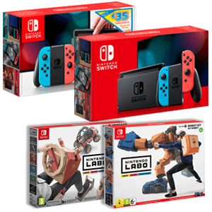 Nintendo Switch + Nintendo Labo a elegir (Kit Robot o Kit Vehículos)