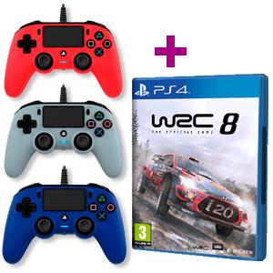 WRC 8 + Mando Nacon con cable a elegir