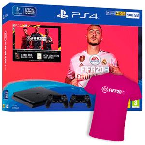Playstation 4 1Tb + FIFA 20 + FUT+ 2 Controller Sony Dualshock 4 V2 + Camiseta