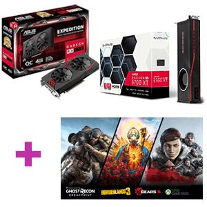 Tarjeta Gráfica AMD Radeon RX + Juego a elegir