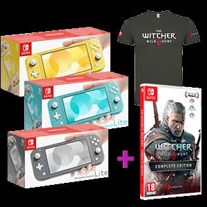 Nintendo Switch Lite + The Witcher 3: Wild Hunt + Camiseta