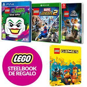 Pack 2 juegos Lego a elegir + Steelbook de regalo