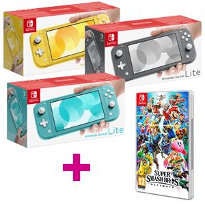 Nintendo Switch Lite + Super Smash Bros Ultimate