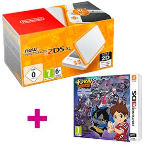New Nintendo 2DS XL Naranja + Yokai Watch 2