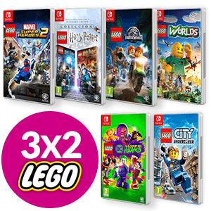 3x2 en juegos Lego para Nintendo Switch