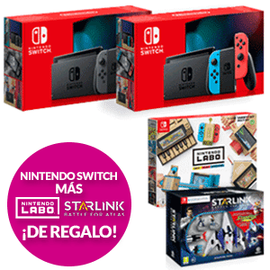 Nintendo Switch + Kit Labo + Starlink Starter Pack de regalo