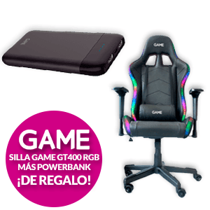 Silla GAME Racing Elite RGB GT400 + Power Bank de regalo
