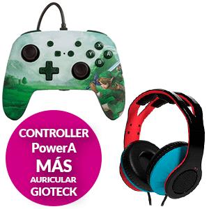 Controller PowerA + Auriculares Giotex TX-30